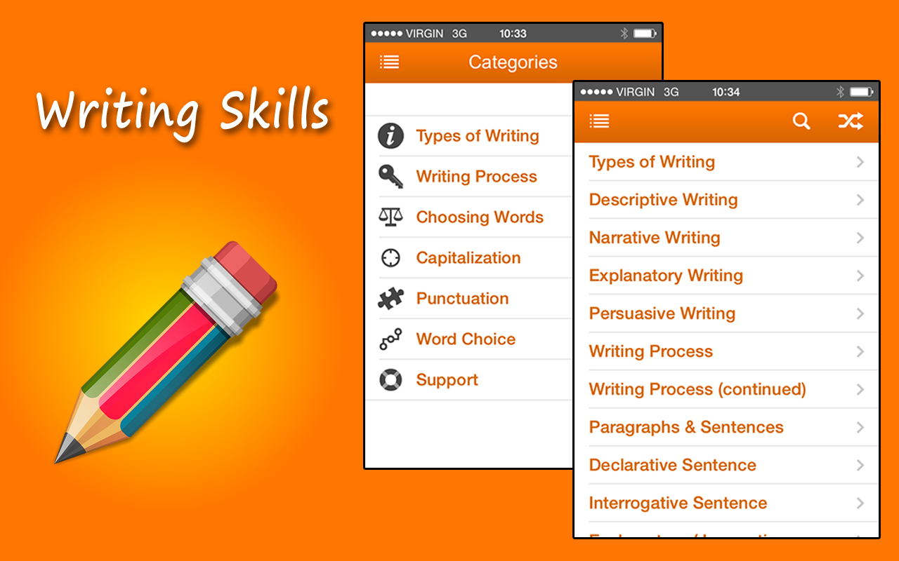 Wrinting skills?