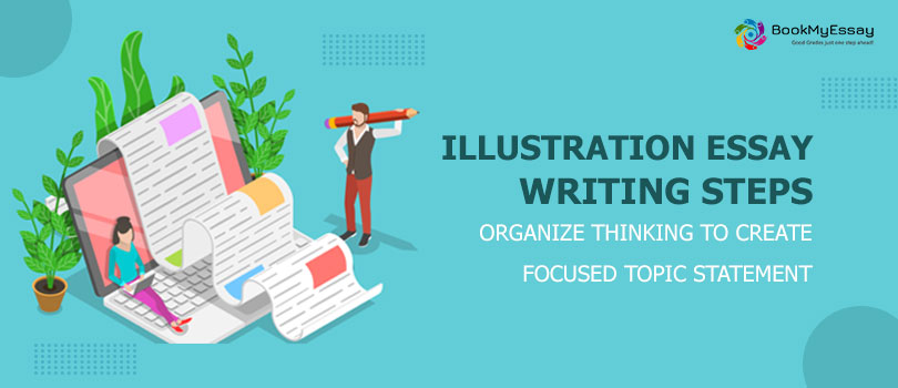 Illustration-Essay-Writing-Steps-Organize-Thinking-to-Create-Focused-Topic-Statement